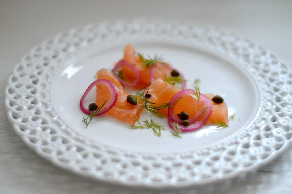 How to make salt cured salmon gravlax five senses palate for Salt cured fish